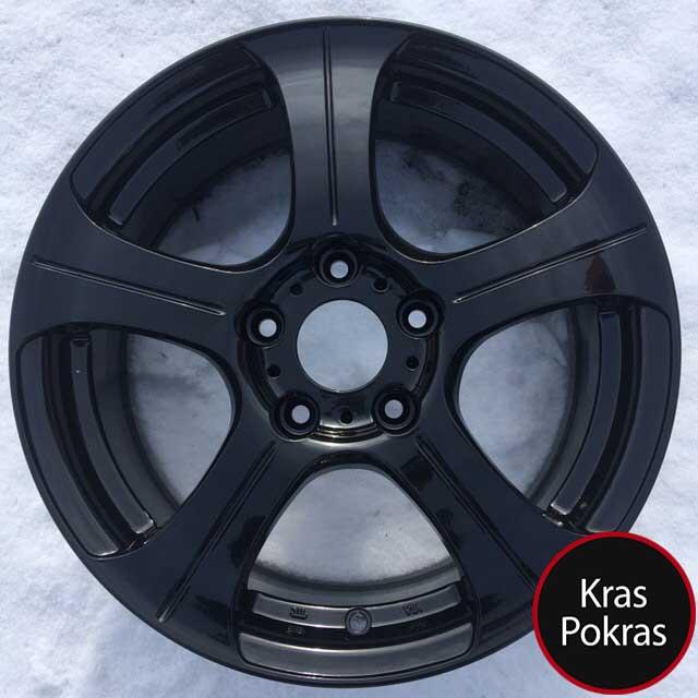 покраска дисков порошоквая в черный